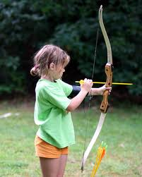 youth girl archer