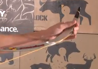stringing recurve bow step 3